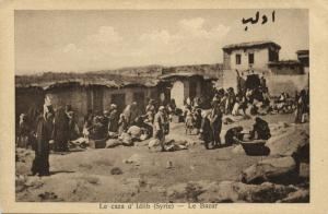 syria, IDLIB إدلب , Le Bazar, Market Scene (1920s) Wattar Freres No. 125