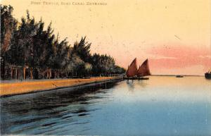 Egypt Port Tewfik, Suez Canal Entrance Boats, Port Card