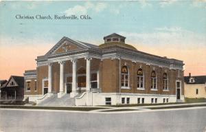 Bartlesville Oklahoma~Christian Church w Greek Ionic Columns~Houses  Bknd~1914