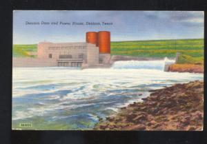 DENISON TEXAS DENISON DAM POWER HOUSE VINTAGE POSTCARD ROTHVILLE MISSOURI
