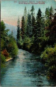Vtg 1920 Sacramento Canyon River Box Canyon California CA Postcard