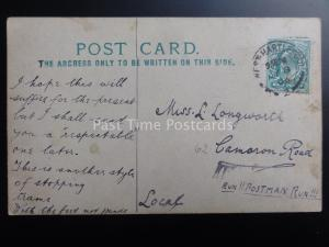 RARE Dandie Black Minstrels Postcard c1903 Artist Stanley Hill?