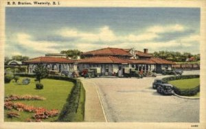 Railroad Station, Westerly, Rhode Island, RI, USA Railroad Train Depot Unused