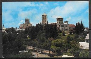 1961 Bermuda, Hamilton, Bermuda cathedral, mailed to USA