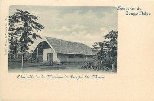 Belgian Congo Belge Chapelle de la Mission de Berghe Ste. Marie chapel postcard