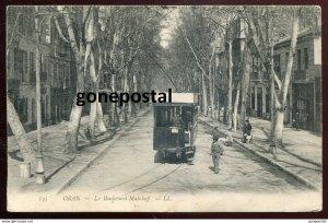 dc601 - ALGERIA Oran 1907 Le Boulevard Malakoff. Trolley Tram