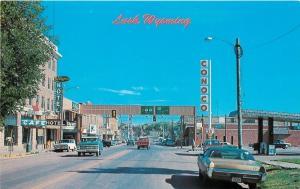 Lusk Wyoming~Conoco 36c Gas Station~Cafe~Ranger Hotel~Pepsi~Nice 1960s Cars