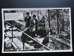 Ireland Cork BLARNEY CASTLE Kissing The Blarney Stone (Father Proul) - Old RP PC