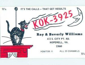 Pre-1980 RADIO CARD - Hopewell - Near Petersburg & Richmond VA AH0471