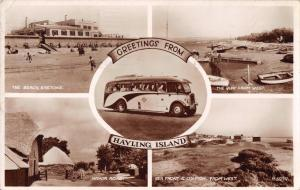 HAYLING ISLAND HAMPSHIRE UK-GREETINGS FROM MULTI PHOTO POSTCARD 1950s