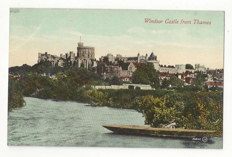 UK England Windsor Castle from Thames Vtg Marshall Postcard