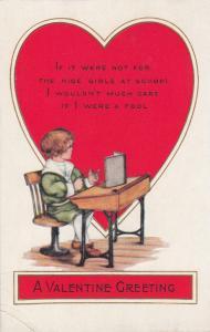 VALENTINE´S DAY: 00-10s; Boy Sitting Down Reading A Book