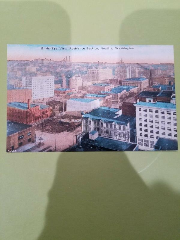 Antique Postcard, Birds-Eye View Residence Section, Seattle, Washington