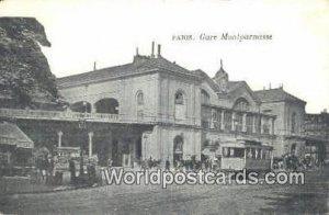 Gare Montparnasse Paris, France, Carte, Unused