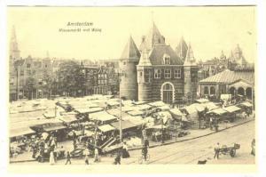 Nieuwmarkt Met Waag, Amsterdam (North Holland), Netherlands, 1900-1910s