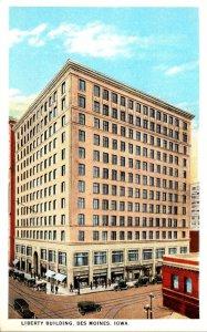 Iowa Des Moines Liberty Building Curteich