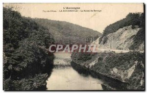 Old Postcard La Bourboule The da Dam Road