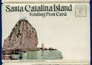 Santa Catalina Island California ca Sugar Loaf Rock postcard folder