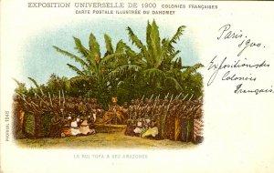 France - Paris, Exposition Universelle de 1900. King Tofa & The Amazons