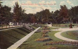 Illinois Peoria Sunken Garden Glen Oak Park 1912