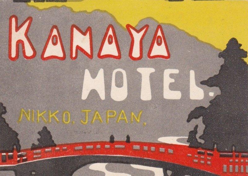 Japan Nikko Kanaya Hotel Vintage Luggage Label sk3939