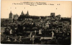 CPA LOCHES - Vue Panoramique - Tour St-Antoine - Chateau Royal (228841)