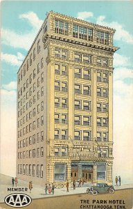 G44/ Chattanooga Tennessee Postcard c1930s The Park Hotel Building