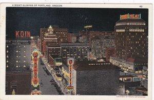 Oregon Portland Broadway At Night sk6347