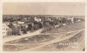 RP; PREECEVILLE , Saskatchewan, 1910-30s : Bird's Eye View #1