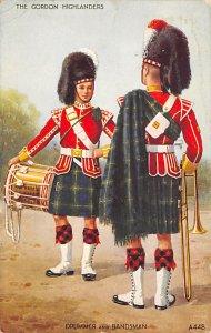 Kilts Post Card Gordon Highlanders, Drummer & Bandsman London, England 193 Mi...
