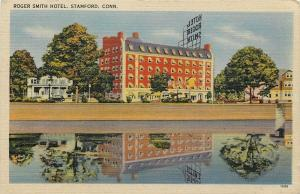 Stamford Connecticut~Roger Smith Hotel~1940s Postcard