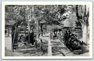 Benton Harbor Michigan~House of David Park~Miniature Railway~West Crossing~c1915