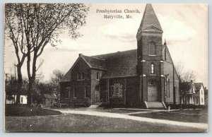 Maryville Missouri~Presbyterian Church~Houses~Wagon Bed~Mercantile Pub~c1910 B&W
