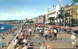 La Cote D'Azur Nice, France, Carte, 1964