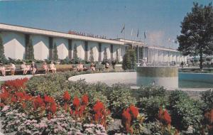 Garden and Fountain Outside Hockey and Sports Hall of Fame, C.N.E. Toronto, C...