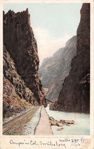 Royal Gorge Colorado~Railroad Tracks~1904 Detroit Pub Co~#5107 Postcard