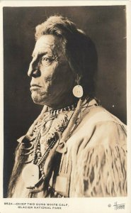 Montana Chief Two Guns His Image was Used for The US Buffalo Nickel RPPC