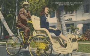 PALM BEACH , Florida , 1930-40s ; Sightseeing from the Afromobile