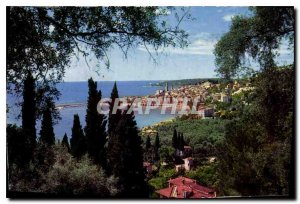 Postcard Old 89 Merveillux sites of the French Riviera Menton AM General view...