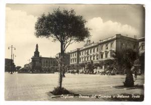 RP; Piazza del Carmine e Palazzo Poste, Cagliari, Italy , PU-1950