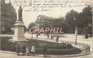 Old Postcard Dijon Darcy Square and Statue of Rude Children