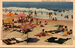 North Carolina Dare County Beaches Ocean Bathing Curteich