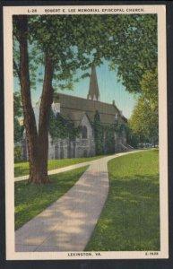 Virginia colour PC Robert E. Lee Memorial Church Lexington, Va. unused