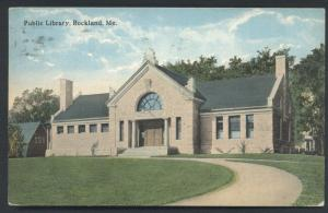 Rockland Maine Public Library Historic Vintage Postcard