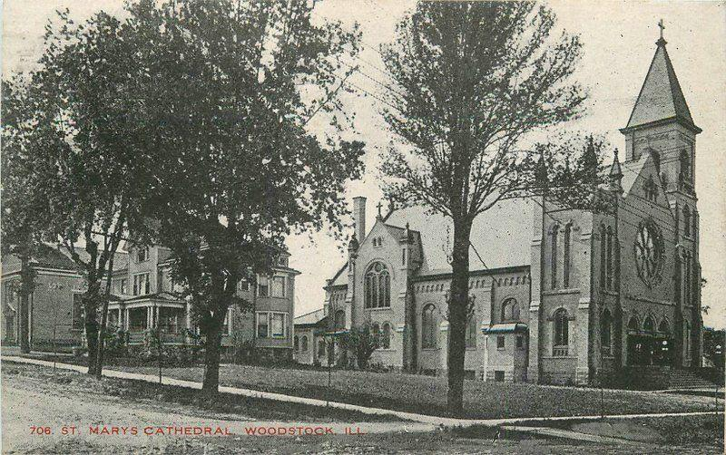 American 5 & 10 Cents Store 1913 Woodstock Illinois St Mary's Cathedral 5555