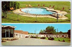 Goodlettsville TN~Mason's Motel & Restaurant~Kidney Pool~1960s Station Wagon