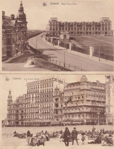 Ostende Royal Palace Les Grands Hotel 2x Postcard s