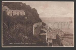 108813 England CLOVELLY Hotel view from Cliff Vintage POSTCARD