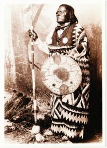 San Juan Mescalero Apache Chief 1883 Native American Modern Postcard