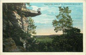 Visor Ledge Dells of Wisconsin River WI Postcard
